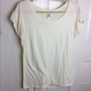 Tops - Buttercream yellow soft tee